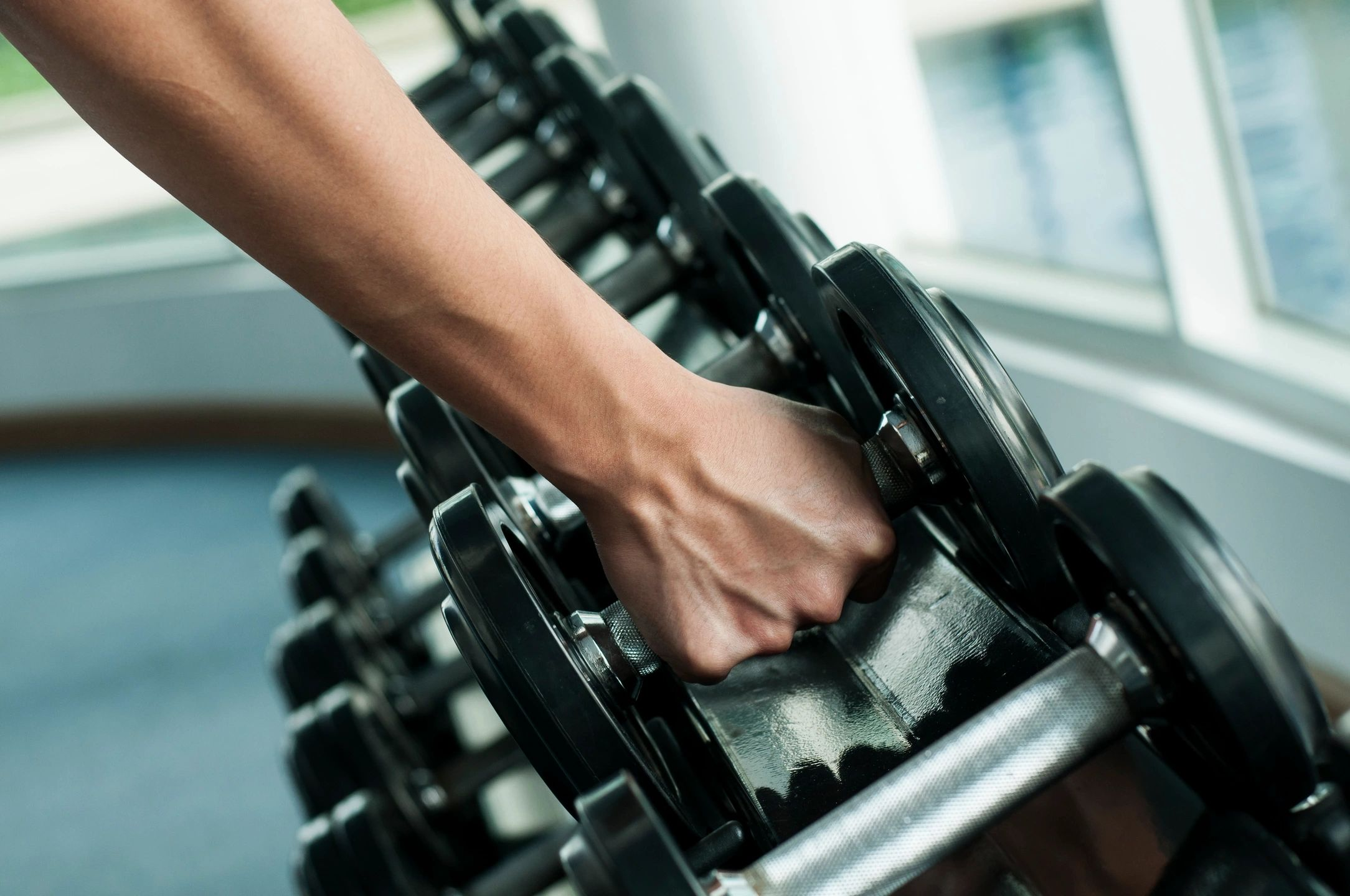 Building muscle with weights
